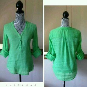"""Zara Basic Sz XS 3/4 Sleeve """"Melon"""""""